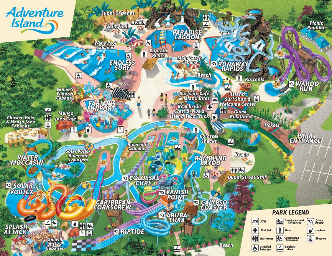 Adventure Island Water Park Map