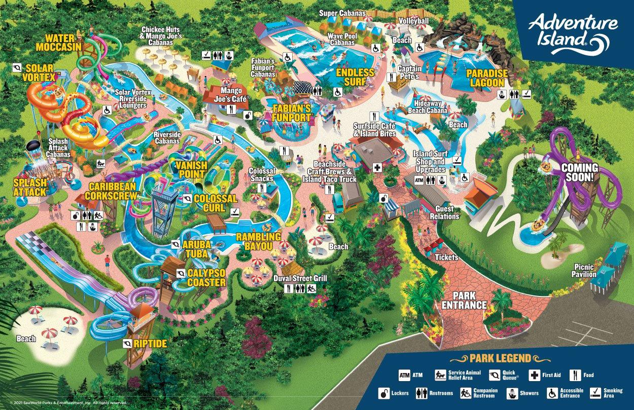 Adventure Island Water Park Map