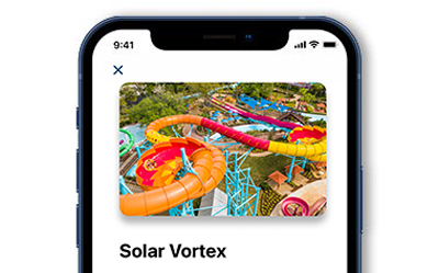 Guide Section of the Mobile App showing Solar Vortex