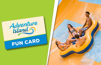 Browse Fun Card options at Adventure Island Tampa Bay