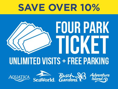 Save Over 10% on Four Park Tickets at Adventure Island Tampa Bay