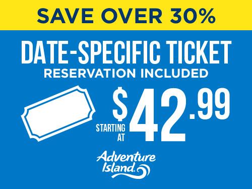 Save Over 30% 42.99 ticket adventure Island