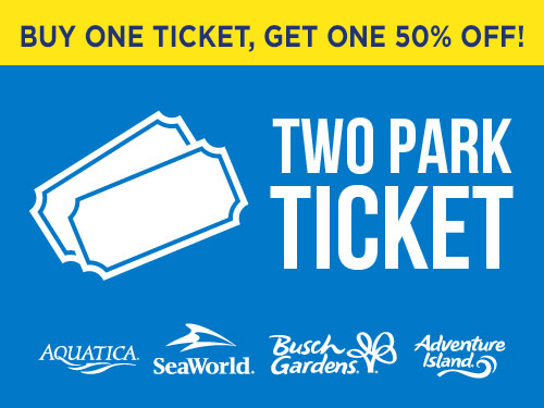 Buy one get one 50% off Two Park Ticket
