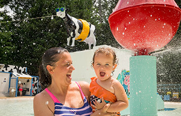 Cow-A-Bunga kids' play area at Water Country USA