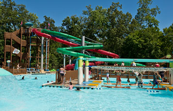 Rock-n-Roll Island - Oasis with slides, pool and lazy river
