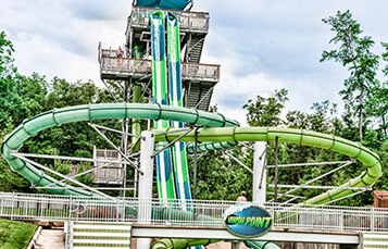Vanish Point water slide at Water Country USA