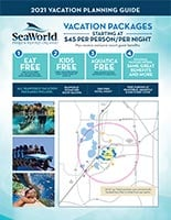 SeaWorld Orlando 2021 Vacation Planning Guide Brochure Cover