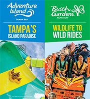 Adventure Island and Busch Gardens Tampa Bay Brochure Cover