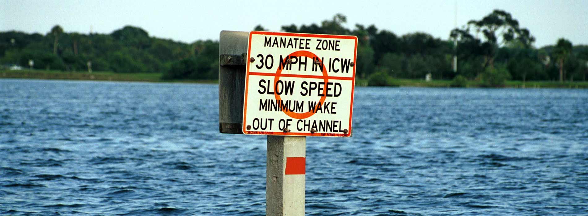 Slow for manatees sign