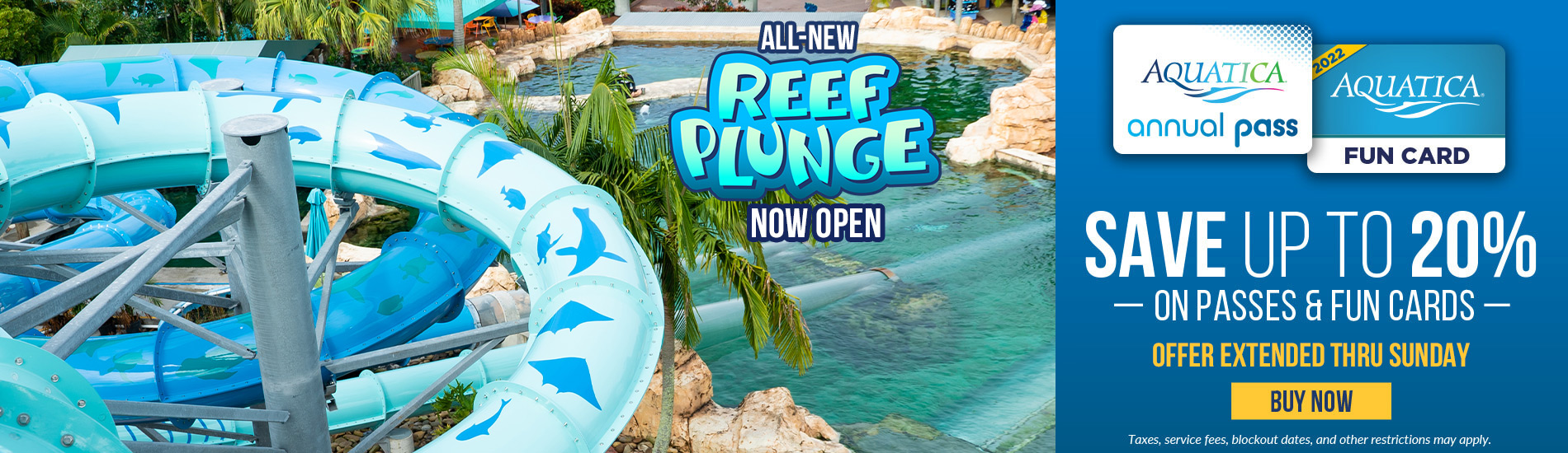 Aquatica Orlando Save 20% on Passes and Fun Cards