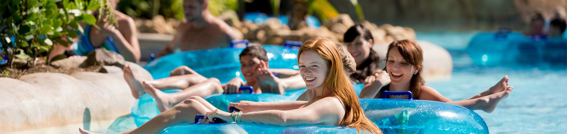 Take a moment to chill in the lazy river at Aquatica.