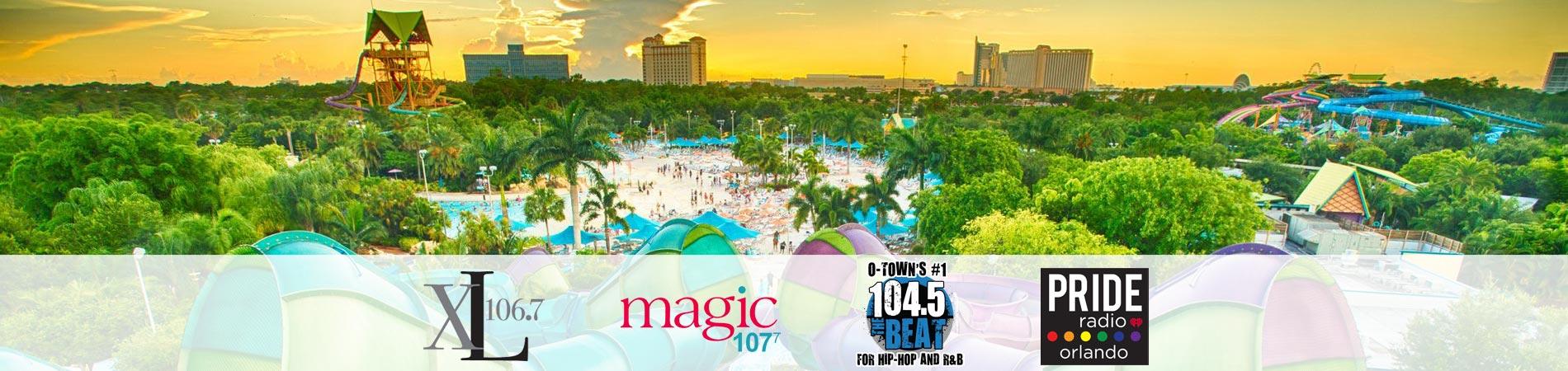 Summer Splash event with iHeart Radio at Aquatica Orlando
