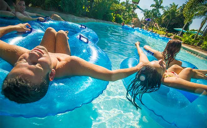 Float down Loggerhead Lane, a relaxing lazy river with underwater views of fish and dolphins.