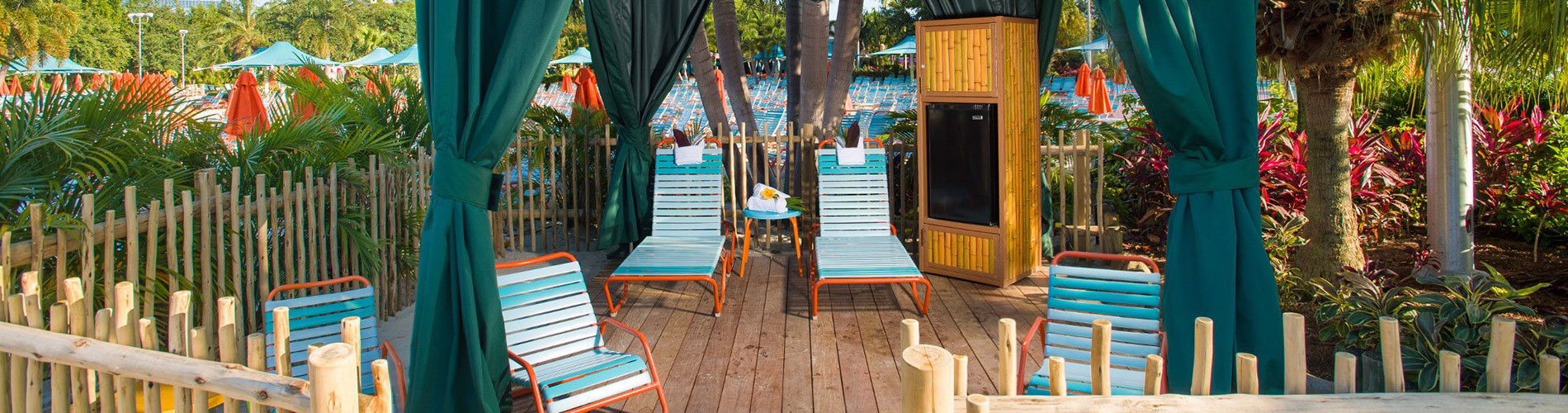 Private Cabanas available at Aquatica Orlando Water Park