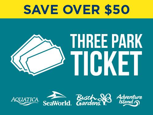 Aquatica Orlando Florida Parks Three Park Ticket