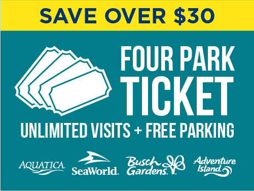 Four Park Ticket Aquatica Orlando