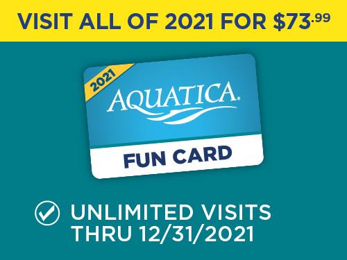 Aquatica Orlando Fun Card for $73.99