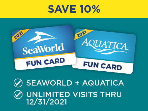 Aquatica and SeaWorld Orlando Fun Card