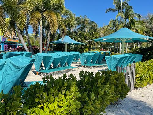 Aquatica Private Beach Loungers