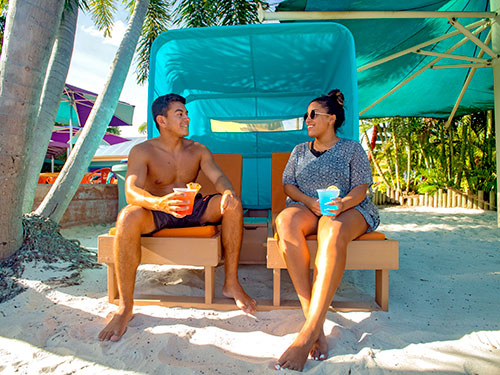 Premium Loungers at Aquatica Orlando
