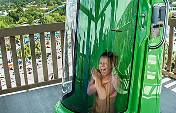 Take a thrilling drop on Ihu's Breakaway Falls at Aquatica