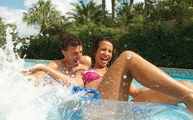 Take a load off your feet and hop on a lazy river ride down Loggerhead Lane.
