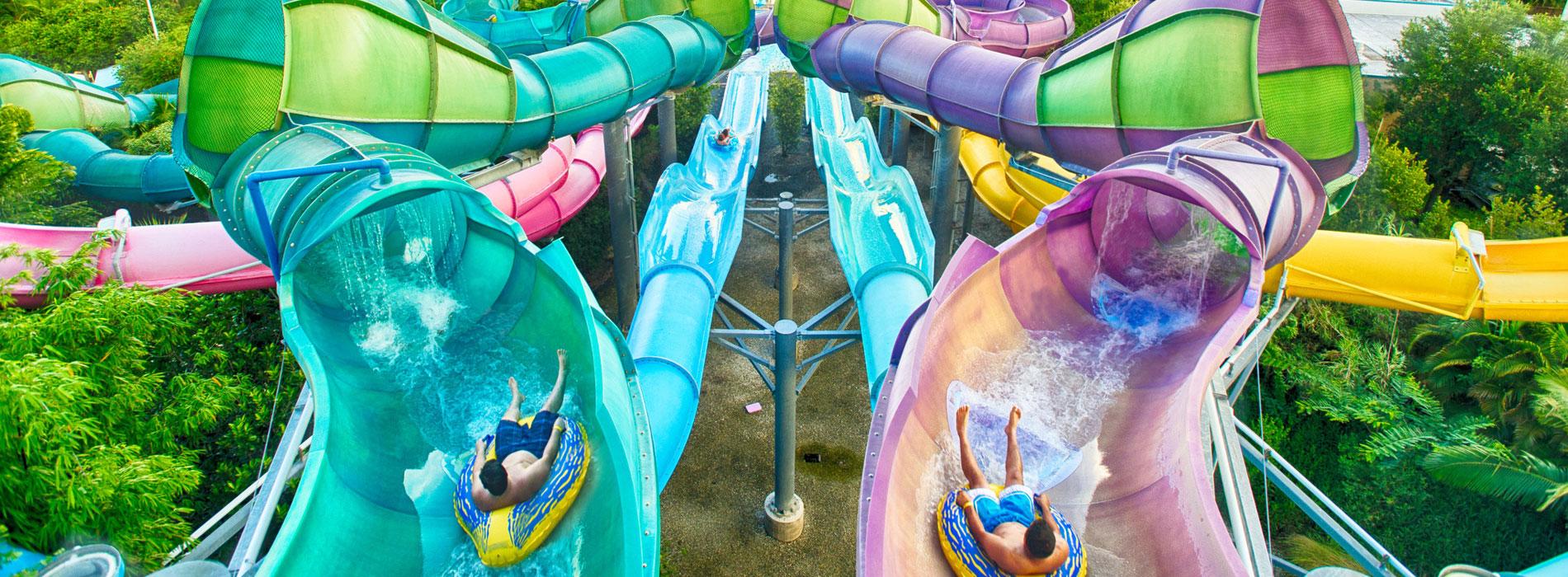 Swish and slide down Omaka Rocka at Aquatica
