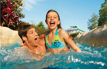 Take a speedy ride down Roa's Rapids, the not-so-lazy river at Aquatica.