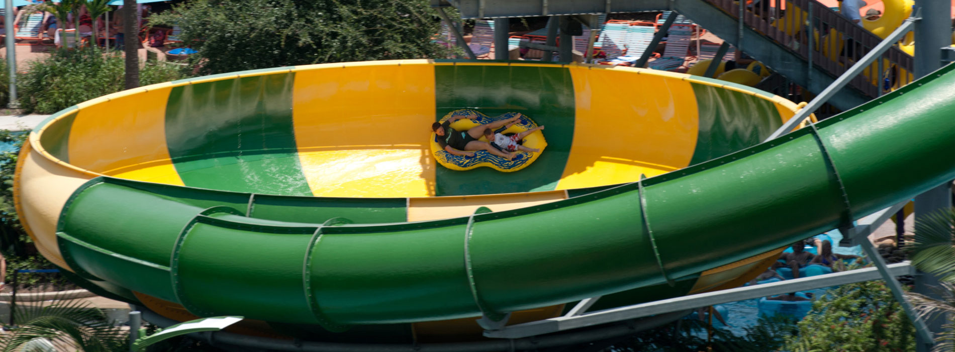 Twist and slide on Tassie's Twisters at Aquatica
