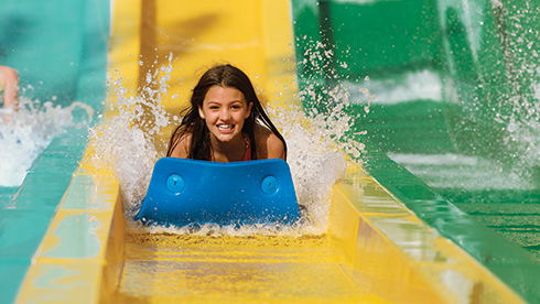 Meet Taumata, a high-speed competitive mat ride where eight racers rip down a staggeringly steep hill, head first.