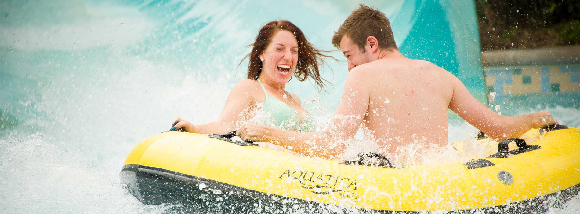 Take a thrilling trip with your family down Wahalla Wave at Aquatica.