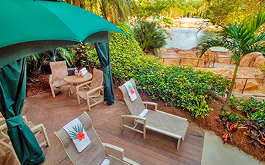 Rent a private cabana at Discovery Cove.