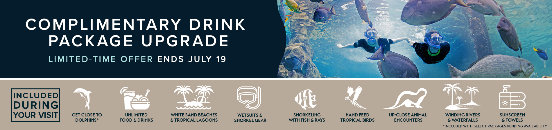 Discovery Cove Complimentary Drink Package