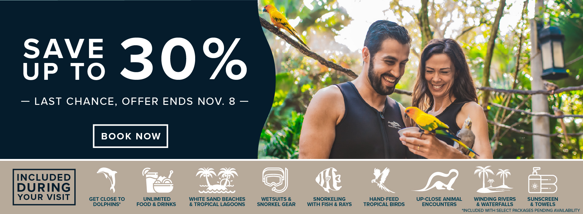Discovery Cove Save up to 30%