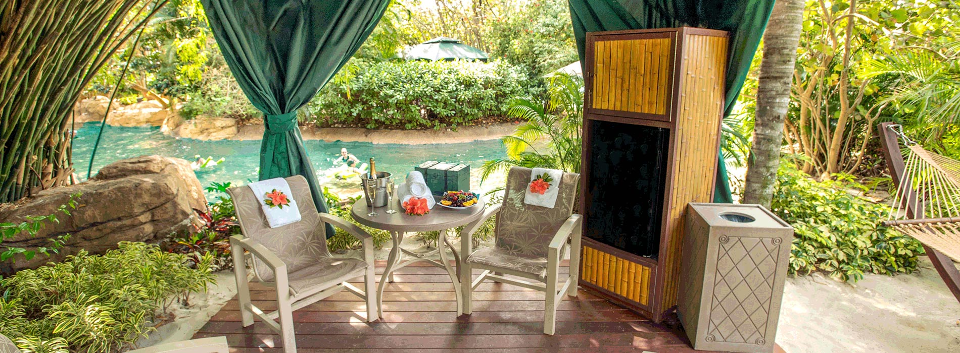 Reserve a cabana for your day at Discovery Cove Orlando