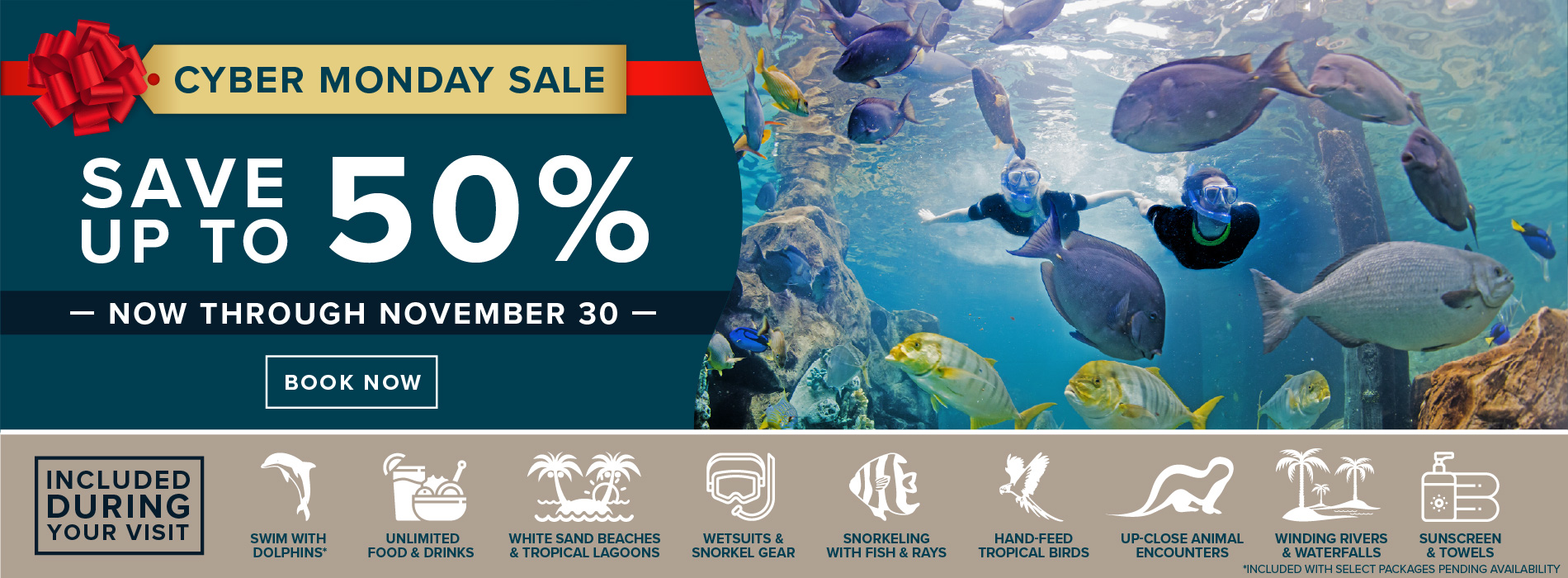 Discovery Cove Cyber Monday Sale