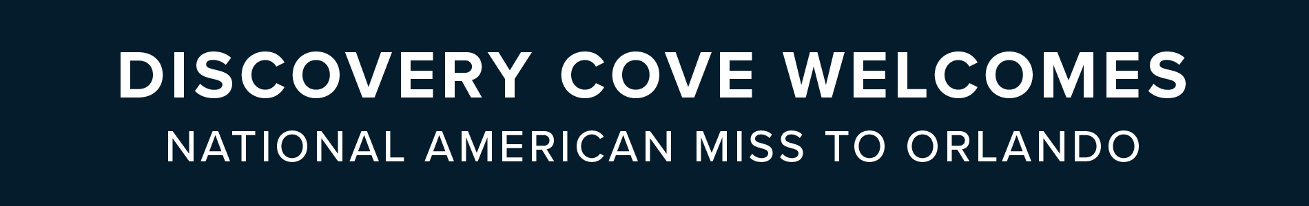 Discovery Cove Welcomes National American Miss