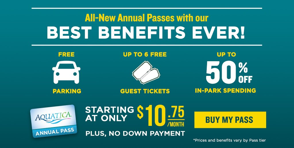 All-New Annual Passes with our Best Benefits Ever! Starting at Only $8.75/mo with no down payment!