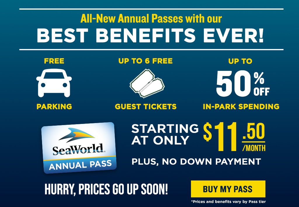 All-New Annual Passes with our Best Benefits Ever! Buy a Gold Pass Now and get 3 Months Free.