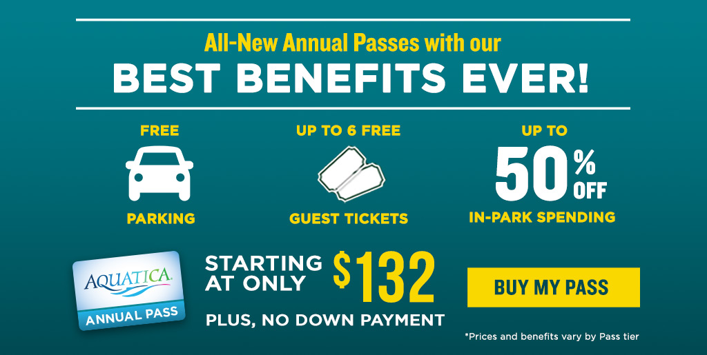 All-New Annual Passes with our Best Benefits Ever! Starting at Only $129 with no down payment!