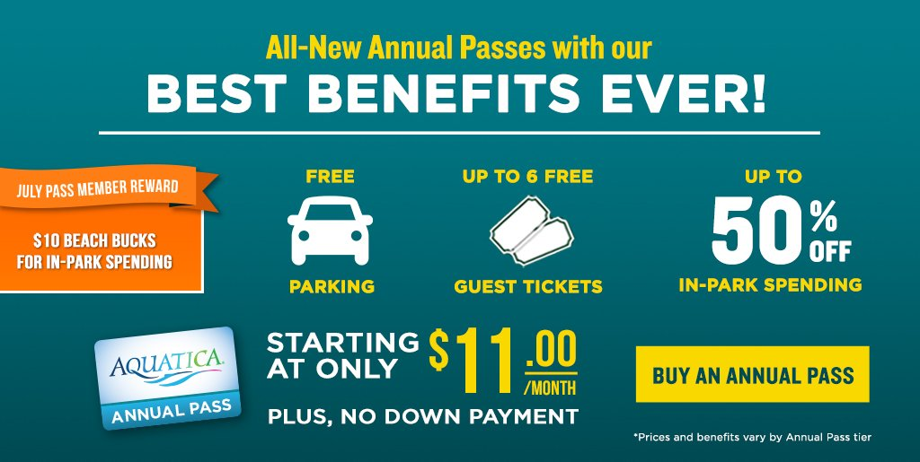 Save up to to $60 on Annual Passes