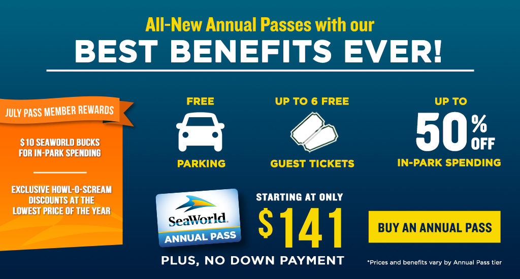 Annual Passes starting at $144