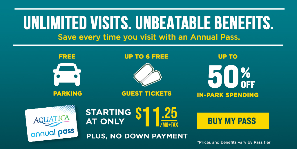 Annual Passes starting at only $9.50 per month.