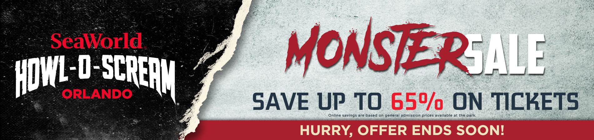 Monster Deal: Save Up to 65% on Howl-O-Scream Tickets