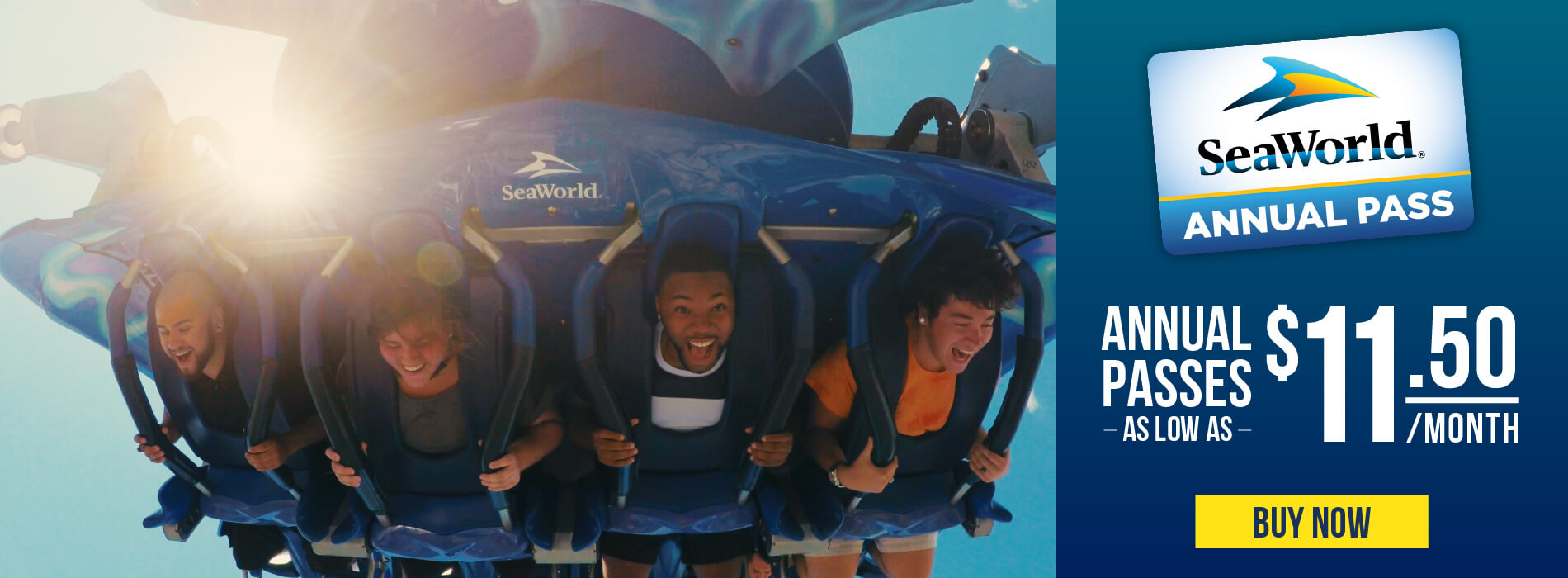 SeaWorld Orlando Annual Pass $11.50/mo.