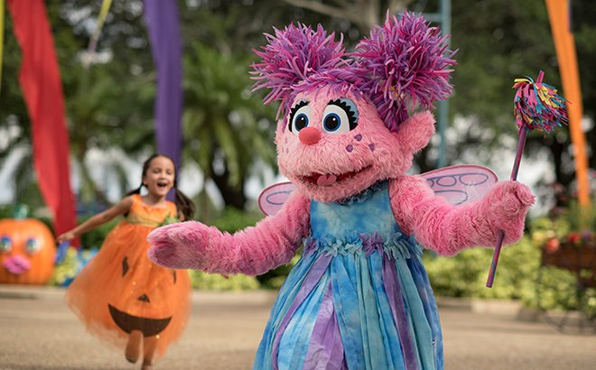 Abby Cadabby at SeaWorld Spooktacular!