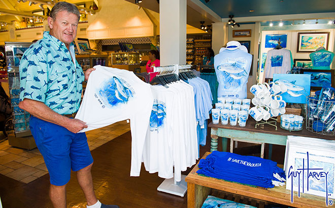 Guy Harvey apparel, Souvenirs and an autograph from the World-renowned marine artist and conservationist himself.