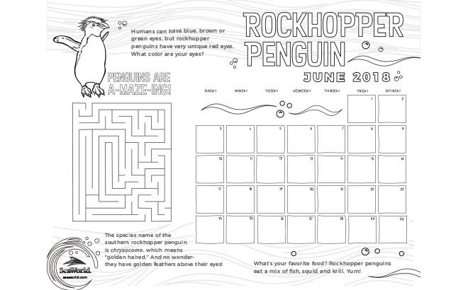 June Kids Calendar