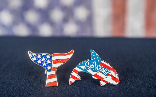 SeaWorld Orlando Patriotic Pins