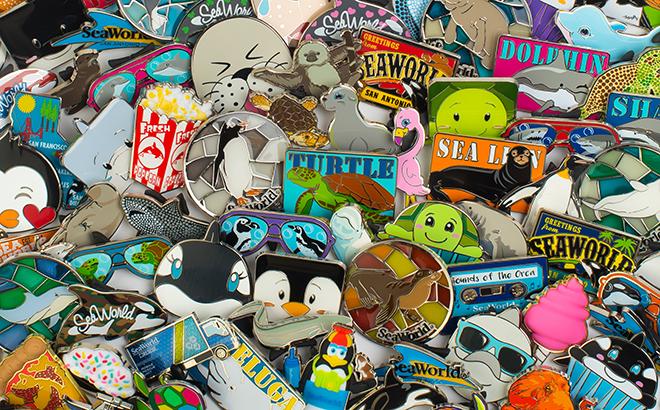 Assortment of SeaWorld Pins